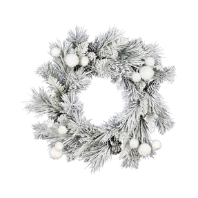 Snowball Wreath 24""