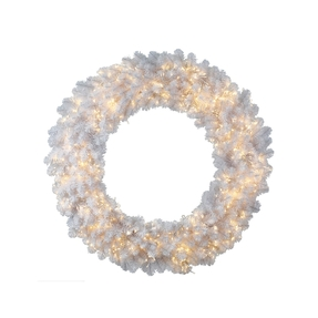 6' Snow White Wreath LED 8 Functions