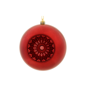 "Solaris Ball Ornament 5.7"" Set of 4 Burgundy"