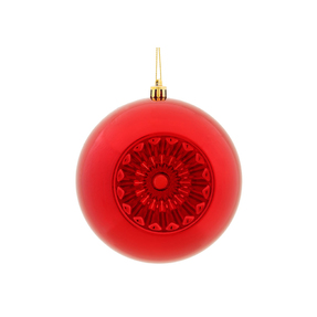 "Solaris Ball Ornament 5.7"" Set of 4 Red"