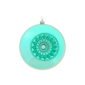 """Solaris Ball Ornament 5.7"""" Set of 4 Teal"""