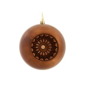 "Solaris Ball Ornament 5.7"" Set of 4 Truffle"