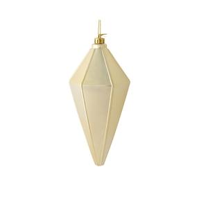 """Sonata Lantern Ornament 7"""" Set of 4 Champagne Shiny"""