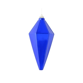"Sonata Lantern Ornament 7"" Set of 4 Cobalt Shiny"