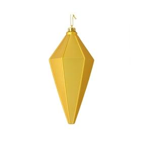 """Sonata Lantern Ornament 7"""" Set of 4 Gold Matte"""