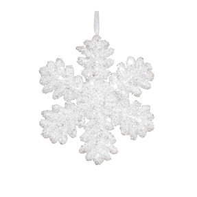"Sparkle Snowflake 9"" Set of 2 White"