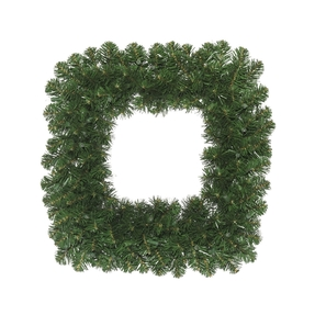 Square Fir Wreath 24""