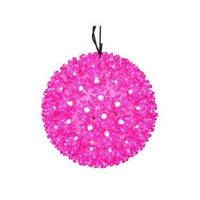 "Starlight Sphere LED Pink 6"""