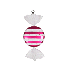 "Striped Candy Ornament 13"" Set of 2"