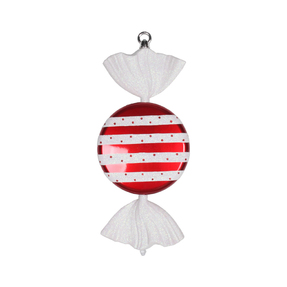 "Striped Peppermint Ornament 13"" Set of 2"