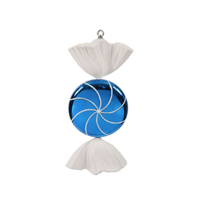"""Sugar Candy Ornament 18.5"""" Blue"""