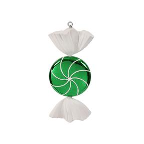 "Sugar Candy Ornament 18.5"" Green"