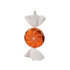 "Sugar Candy Ornament 18.5"" Orange"