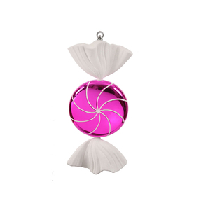 "Sugar Candy Ornament 18.5"" Hot Pink"