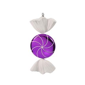 """Sugar Candy Ornament 18.5"""" Purple"""