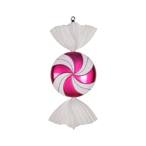 "Swirly Candy Ornament 18.5"" Set of 2 Hot Pink"
