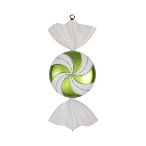 "Swirly Candy Ornament 18.5"" Set of 2 Lime"