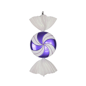 "Swirly Candy Ornament 18.5"" Set of 2 Purple"