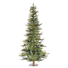 6 swiss alpine fir wclear lights - Rustic Artificial Christmas Tree