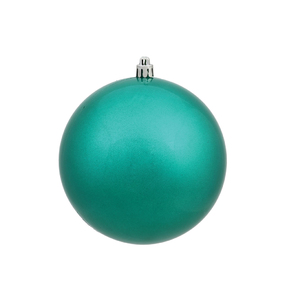 "Teal Ball Ornaments 4.75"" Candy Finish Set of 4"
