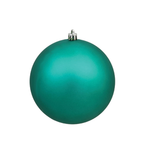 "Teal Ball Ornaments 4"" Matte Set of 6"