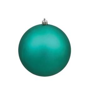 "Teal Ball Ornaments 6"" Matte Set of 4"