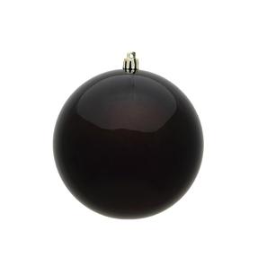 "Truffle Ball Ornaments 4"" Candy Finish Set of 6"