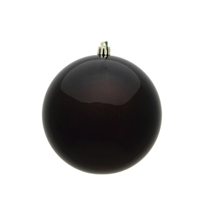 "Truffle Ball Ornaments 8"" Candy Finish Set of 2"