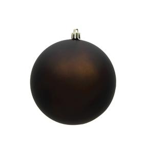 "Truffle Ball Ornaments 6"" Matte Set of 4"
