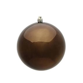 """Truffle Ball Ornaments 6"""" Shiny Set of 4"""