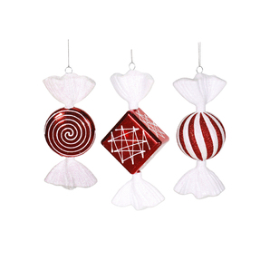 "Vintage Peppermint Candy 8"" Set of 3 Asst."