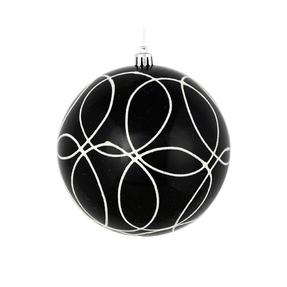"Viola Ball Ornament 6"" Set of 3 Black"