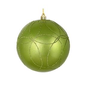 "Viola Ball Ornament 4"" Set of 4 Celadon"