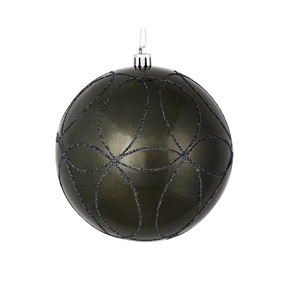 "Viola Ball Ornament 4"" Set of 4 Pewter"