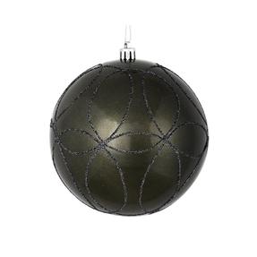 "Viola Ball Ornament 6"" Set of 3 Pewter"
