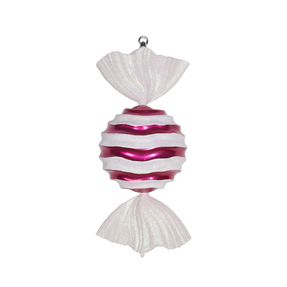 "Wavy Stripe Ornament 18.5"" Set of 2 Hot Pink"