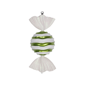 "Wavy Stripe Ornament 18.5"" Set of 2 Lime"