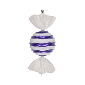 "Wavy Stripe Ornament 18.5"" Set of 2 Purple"