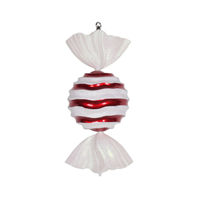 "Wavy Stripe Peppermint Ornament 18.5"" Set of 2"