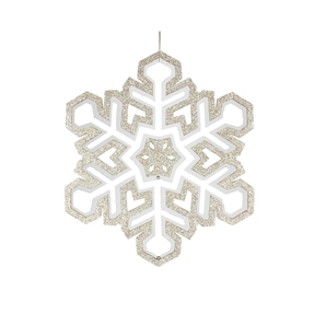 "Winter Snowflake 17"" Champagne"