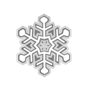 "Winter Snowflake 25"" Silver"