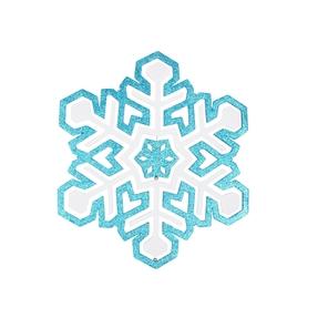 "Winter Snowflake 25"" Turquoise"