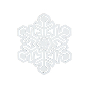"Winter Snowflake 17"" White"