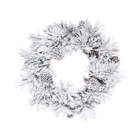 4' Winter Pine Wreath Unlit