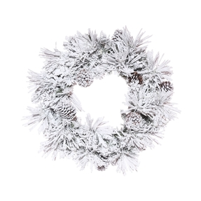 5' Winter Pine Wreath Unlit