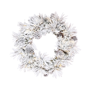 Winter Pine Wreath LED 30""