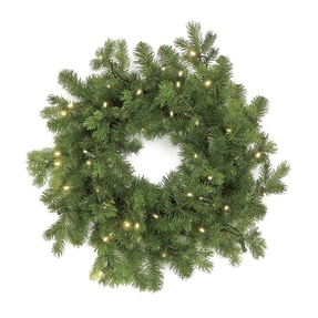 Balsam Fir Wreath LED Battery 24""