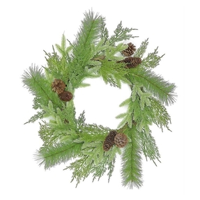 Winter Green Wreath 20""