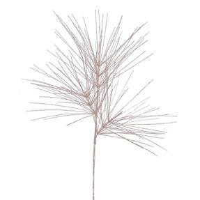 "Glitter Pine Branch 41"" Set of 12 Rose"