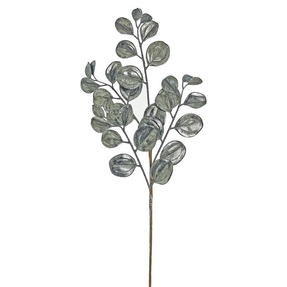 "Metallic Shimmer Leaf Spray 29"" Set of 12 Pewter"